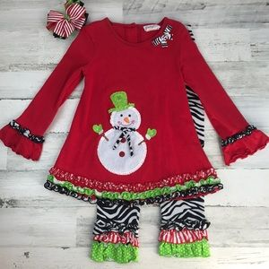 Holiday Christmas outfit size 7